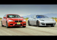 Дуэль между BMW M5 и Porsche Panamera GTS