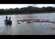 Грузовик с цистернами ушел под воду