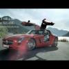 Михаил Шумахер делает петлю в тоннеле на Mercedes SLS AMG Coupe