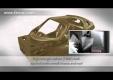 Приемник Ferrari Enzo показывают с шасси из углеродного волокна на автосалоне в Париже