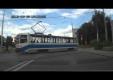 Трамвай протаранил бегуна, не бегайте по рельсам