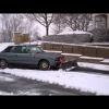 BMW E30 3 серии в роли снегоуборочной машины