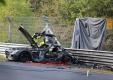 Mercedes-Benz SLS AMG Black Series 2014 сгорел в аварии во время тестирования