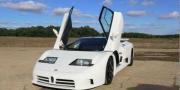 Редкий Bugatti EB110 SS выжигает очень, очень дорогие шины