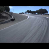 Дрифтующий Mercedes C63 AMG на гоночной трассе Laguna Seca