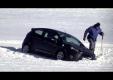 Ford Fiesta на тестах попадает в сугроб