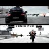 Крис Харрис на Porsche 911 GT2 RS против Ducati 1199 Panigale