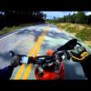 Мотогонщик на ралли сбивает оленя