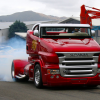 "Заряженный грузовик-кабриолет Scania R999 ""Red Pearl"""