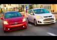 Тест гибридных Ford C-Max против Toyota Prius V
