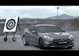 Hyundai Genesis Coupe соревнуется в скорости со стрелой