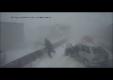 Авария на шоссе во время метели