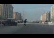 Очень везучий пешеход