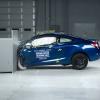 Краш тест с небольшим перекрытием новой Honda Civic
