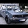 Видео Volkswagen Golf Mk1 с 736 л.с. под капотом