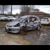 Водитель на Honda Jazz перевернулся семь раз и остался жив