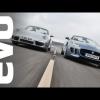 EVO сравнивает Jaguar F-Type с новым Porsche 911 Cabrio