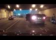 Гонщики на BMW X5 и Audi создали огромную аварию в туннеле на Ленинградском шоссе