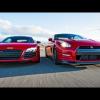 Испытания Nissan GT-R против Ауди R8 V10 Plus
