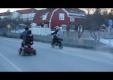 Кренделя на не типичном скутере