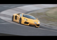 Lamborghini Aventador SV и Ferrari F12 berlinneta на изгибе гоночной трассы