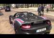 Porsche 918 Spyder выходит на улицы Милана разукрашенный от Martini