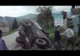 Водитель Nissan Patrol пытался пересечь дорогу во время гонок