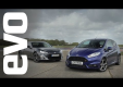 Ford Fiesta ST против Toyota GT86 на трассе в EVO испытаний