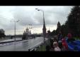 Авария Ferrari F1 автомобиля во время московской акции