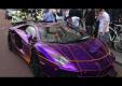 Фиолетовый Lamborghini Aventador на улицах Лондона