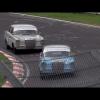 Харрис и Култхард проезжают кольцо в классическом Mercedes 1960-х годов