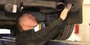Монтаж защиты заднего бампера на ССангЙонг Рекстон