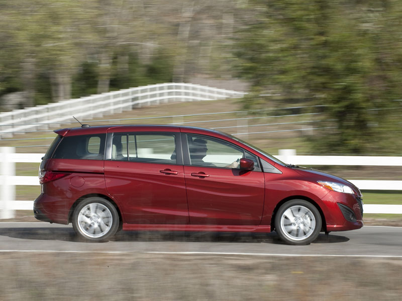 2012 Mazda5 Side View In Motion.