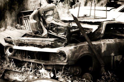 Кладбища автомобилей Фото 06