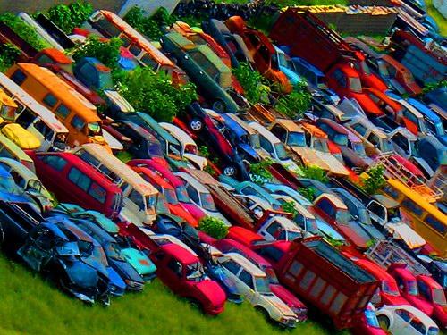 Кладбища автомобилей Фото 07