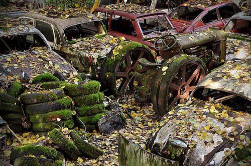 Кладбища автомобилей Фото 08