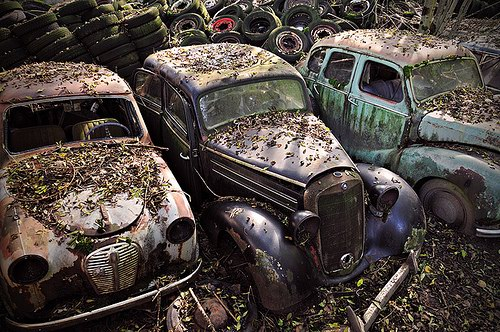 Кладбища автомобилей Фото 09