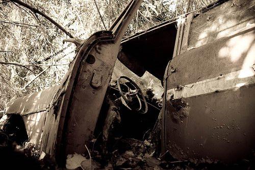 Кладбища автомобилей Фото 16