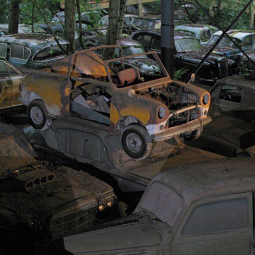 Кладбища автомобилей Фото 17