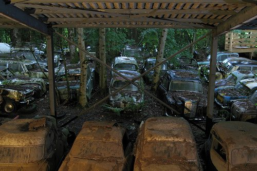 Кладбища автомобилей Фото 18