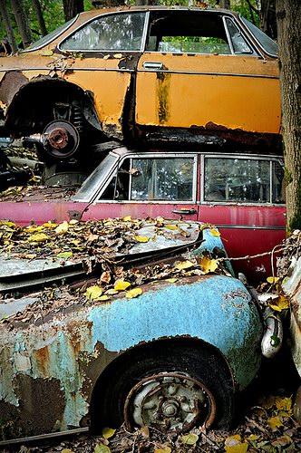 Кладбища автомобилей Фото 20
