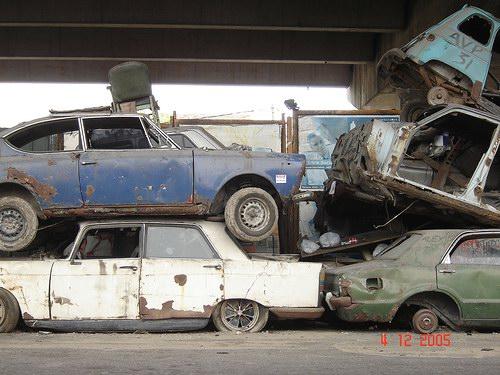 Кладбища автомобилей Фото 23