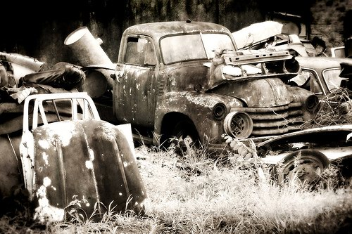 Кладбища автомобилей Фото 25