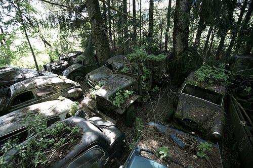 Кладбища автомобилей Фото 29