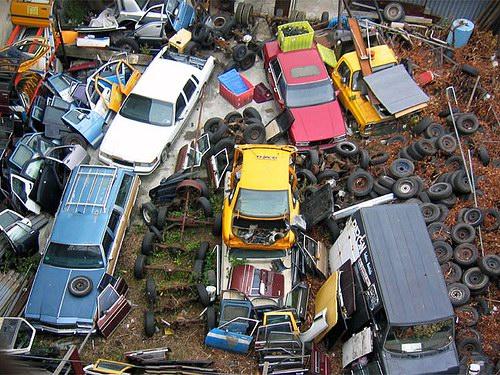 Кладбища автомобилей Фото 30