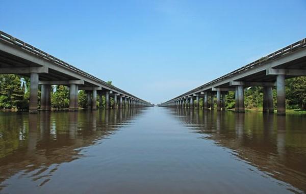Atchafalaya Basin мост в США