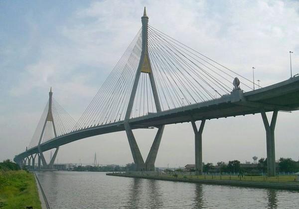Bhumibol Bridge в Тайланде