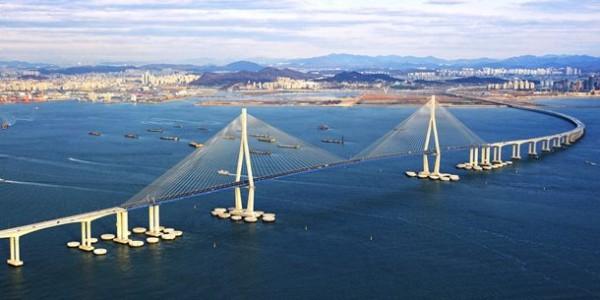 Инчхон Гранд мост в Южной Корее