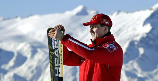 Михаэль Шумахер и лыжи