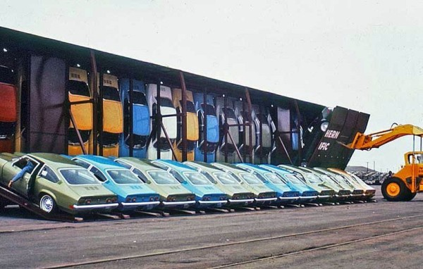 необчный способ перевозить автомобили США автомобилей Фото 02